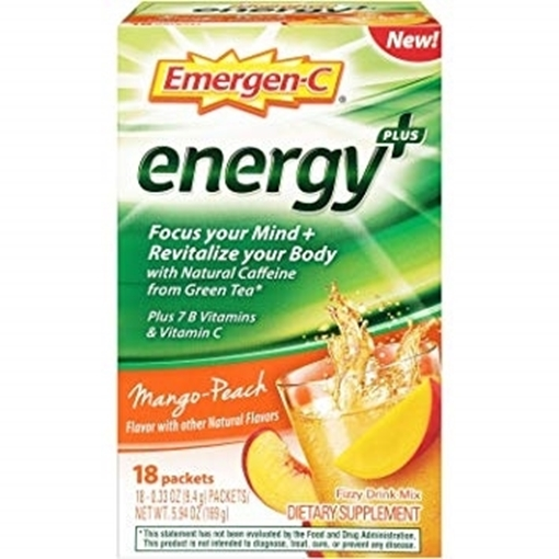 Picture of Emergen-C Energy+ Mango-Peach, 18  Single Packets