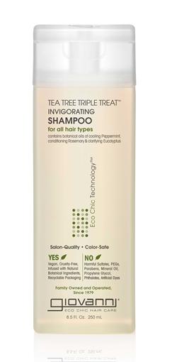 Picture of Giovanni Cosmetics Tea Tree Triple Treat Shampoo, 8.5 oz