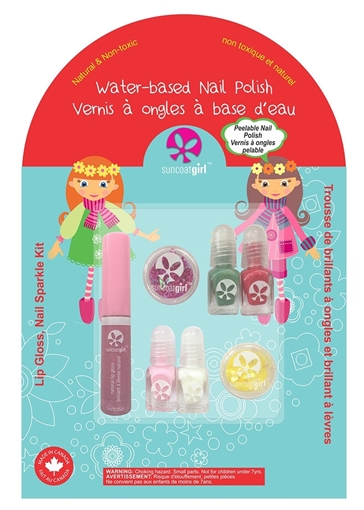 Picture of Suncoat Suncoat Holiday Magic Lip Gloss Nail Sparkle Kit