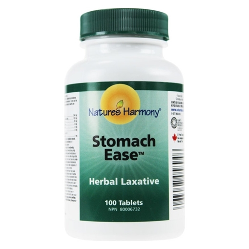 Picture of Nature's Harmony Natures Harmony Stomach Ease Herbal Laxative, 100 Tablets