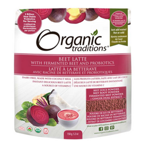 Picture of Organic Traditions Organic Beet Latte with Fermented Beets and Probiotics. 150g