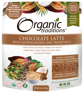 Picture of  Chocolate Latte with Ashwagandha and Probiotics, 150 g