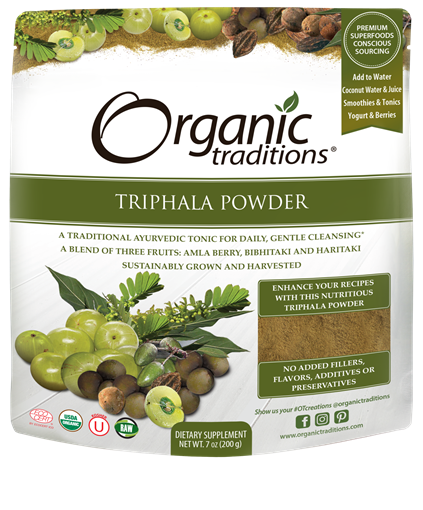 Picture of Organic Traditions Triphala Powder, 200g