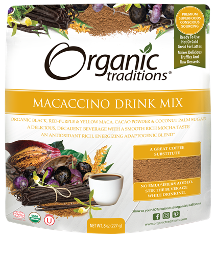 Picture of Organic Traditions Macaccino Drink Mix, 227g
