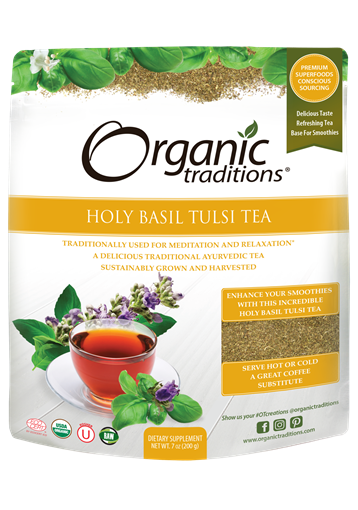 Picture of Organic Traditions Holy Basil (Tulsi) Tea Cut, 200g
