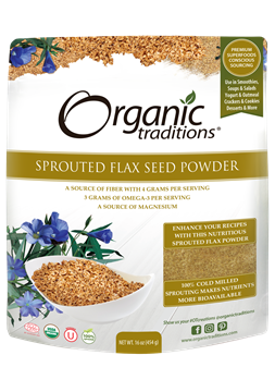 Picture of  Sprouted Flax Seed Powder, 454g
