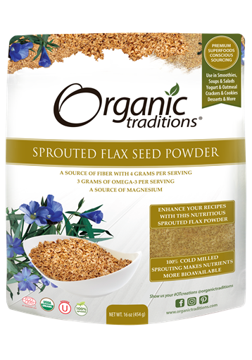 Picture of Organic Traditions Sprouted Flax Seed Powder, 454g