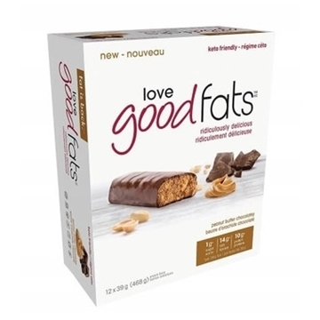 Picture of Suzie's Good Fats Company Peanut Butter Chocolate Snack Bar, 12x39g