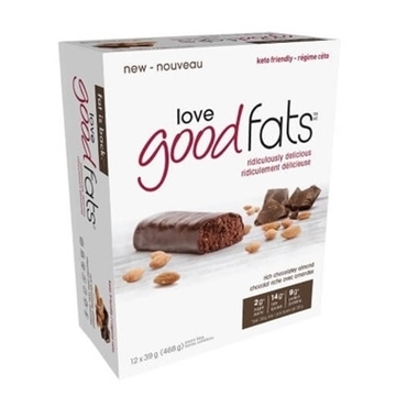 Picture of Suzie's Good Fats Company Rich Chocolatey Almond Snack Bar, 12x39g