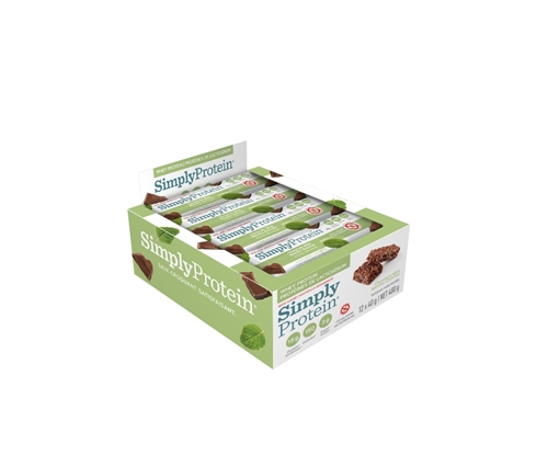 Picture of Simply Protein Whey Bar, Chocolate Mint 12x40g