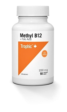 Picture of Trophic Methyl B12 with Folic Acid, 90 Tablets