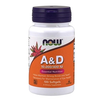 Picture of NOW Foods Vitamin A&D 10,000 IU/400 IU 100 Softgels