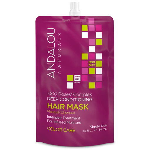 Picture of Andalou Naturals Hair Mask, 1000 Roses Color Care 44ml, Box of 6