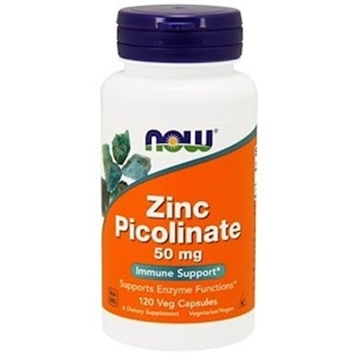 Picture of NOW Foods Zinc Picolinate 25mg, 100vcap