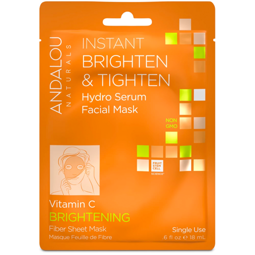 Picture of Andalou Naturals Instant Brighten & Tighten Facial Sheet Mask (Box of 6)
