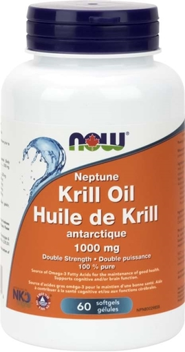 Picture of NOW Foods Neptune Krill Double Strength Formula, 1000mg/60 softgel