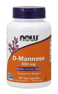 Picture of NOW Foods D-Mannose 500mg, 120vcap