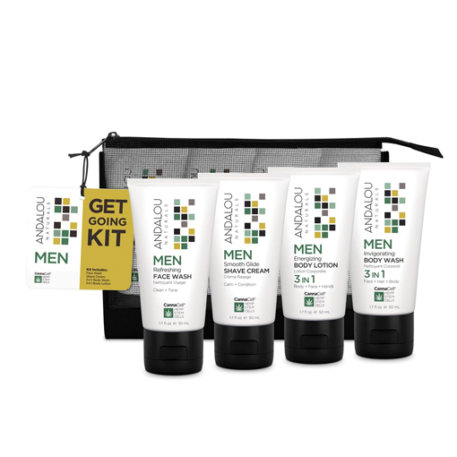 Picture of Andalou Naturals Men Get Going Kit, 4 Piece Set