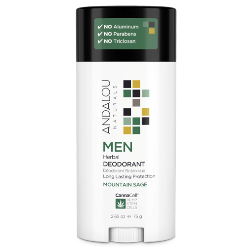 Picture of Andalou Naturals Men Herbal Deodorant - Mountain Sage, 75g