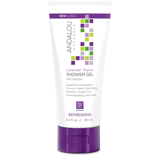 Picture of Andalou Naturals Lavender Thyme Refreshing Shower Gel, 251ml