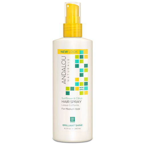 Picture of Andalou Naturals Sunflower & Citrus Brilliant Shine Hairspray, 242ml
