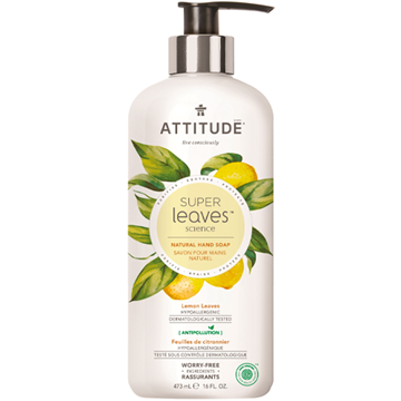 Picture of Attitude Super Leaves Lemon Leaves Hand Soap, 473ml