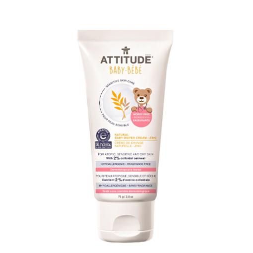 Picture of Attitude Baby Natural Baby Diaper Zinc Cream, 75g