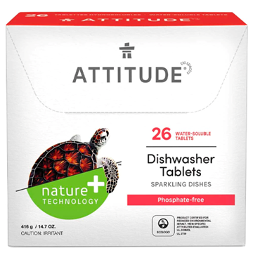 Picture of Attitude Dishwashing Detergent Eco-Pouches, 338g