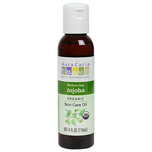 Picture of Aura Cacia Organic Jojoba Body Skin Care Oil, 118ml