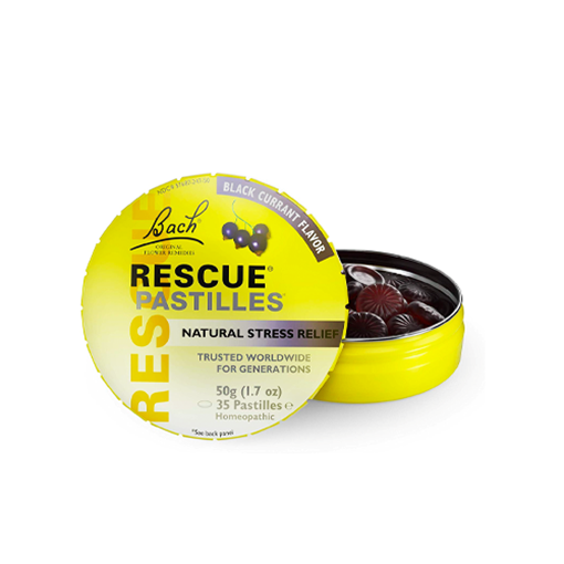 Picture of Bach Rescue Pastilles Black Currant, 50g