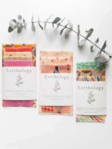 Picture of Earthology Beeswax 3 Wrap Variety Pack