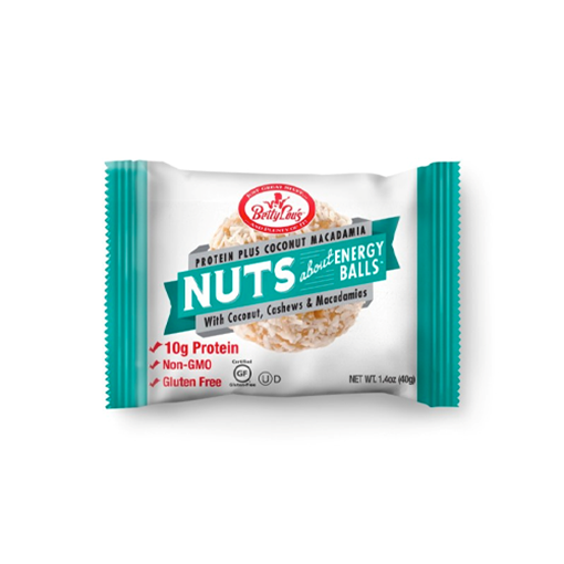 Picture of Betty Lou's Inc. Nuts About Energy Balls Protein Plus, Coconut Macadamia 12x49g
