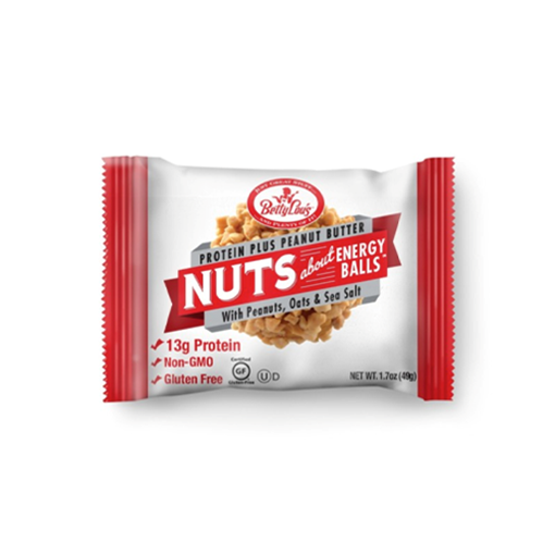 Picture of Betty Lou's Inc. Nuts About Energy Balls Protein Plus, Peanut Butter 12x49g