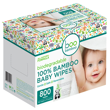 Picture of Boo Bamboo Baby Biodegradable Value Box, 800 Wipes