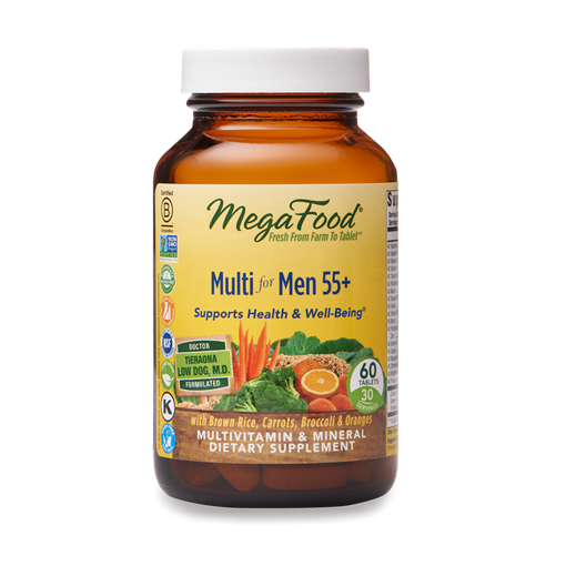 Picture of MegaFood Multi for Men 55+ 60 tabs