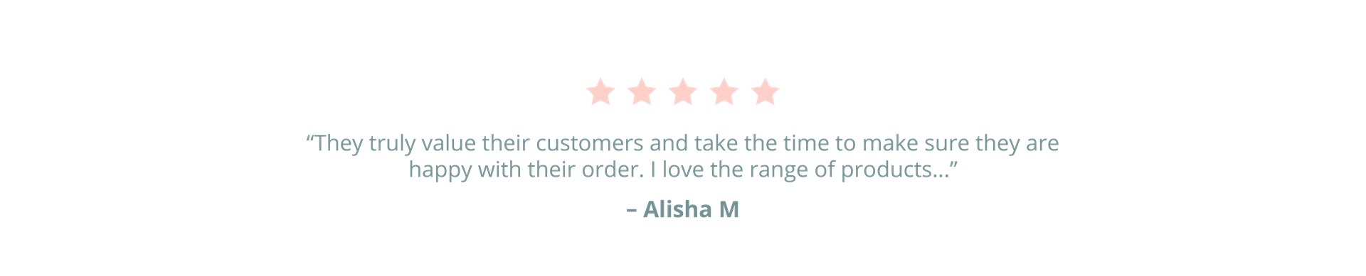 Customer Review by Alisha M