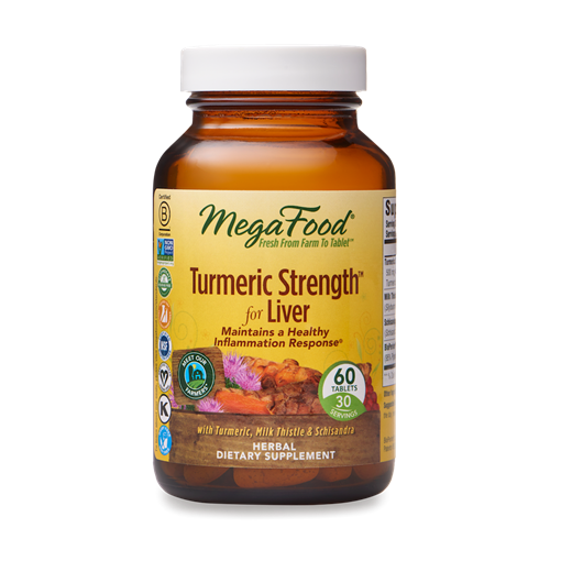 Picture of MegaFood Turmeric Strength for Liver, 60 tabs