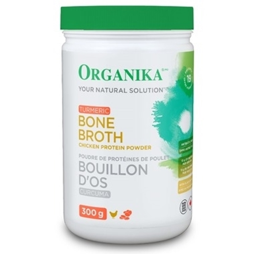 Picture of Organika Chicken Bone Broth Protein Powder Turmeric, 300g
