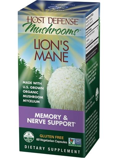Picture of Host Defense Lion's Mane (Hericium Erinaceus), 60 caps