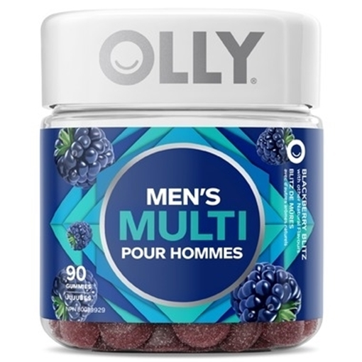 Picture of OLLY Men's Multi Blackberry Blitz Gummies, 90 ct
