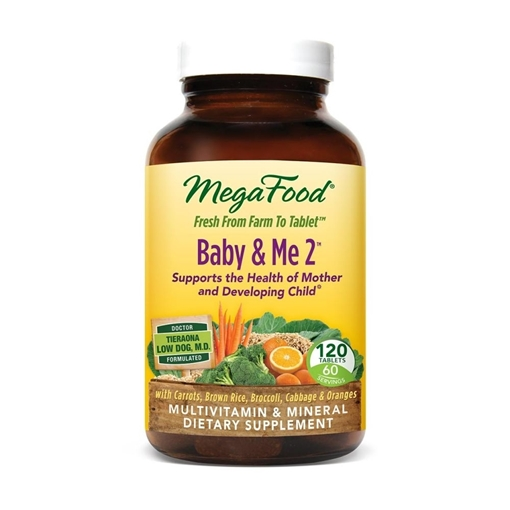 Picture of MegaFood Baby & Me 2 Prenatal Multivitamin & Minerals, 120 tabs