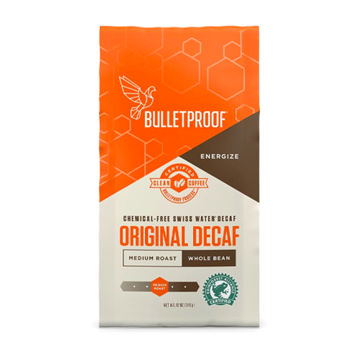 Picture of Bulletproof The Original Medium Roast Whole Bean Decaf Coffee, 340g