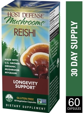 Picture of Host Defense Reishi (Ganoderma Lucidum) Capsules, 60 Capsules