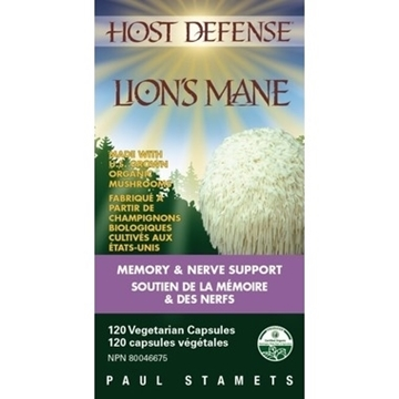 Picture of Host Defense Lion's Mane Hericium Erinaceus Capsules 120ct
