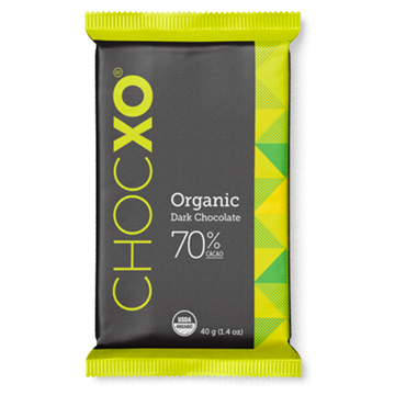 Picture of  Organic 70% Dark Chocolate Box, 150 Pieces (6g. each)