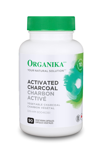 Picture of Organika Activated Charcoal, 90 Vegetarian Capsules