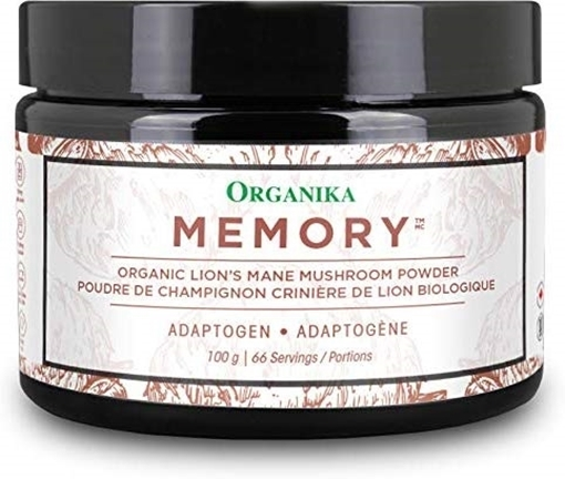 Picture of Organika Adaptogen Lions Mane Mushroom Powder – Memory, 100 g