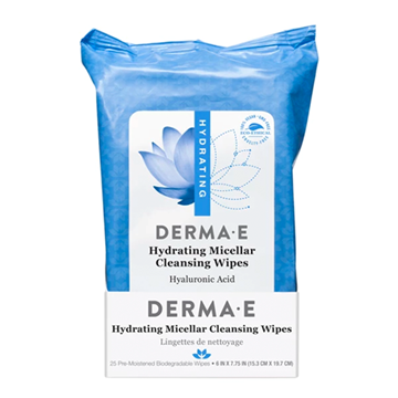 Picture of DERMA E Hydrating Micellar Cleansing Wipes, 25 Wipes