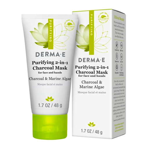 Picture of DERMA E Purifying 2-in-1 Charcoal Mask, 48g