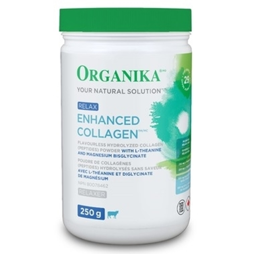 Picture of Organika Enhanced Collagen Relax With Magnesium, 250g